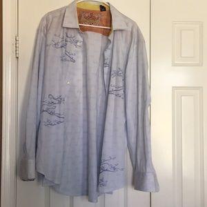 Robert Graham Patterned button down dress shirt